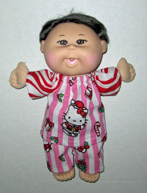 Cabbage Patch Babie Hello Kitty Christmas Pajamas by Dakocreations