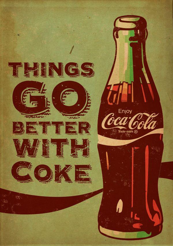Favoriete Coca Cola ® - Vintage posters on Behance | Posters | Pinterest  #MV76