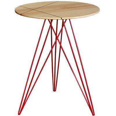 Tronk Design Hudson End Table Top Color Maple Base Color Red End Tables Hudson Table Furniture