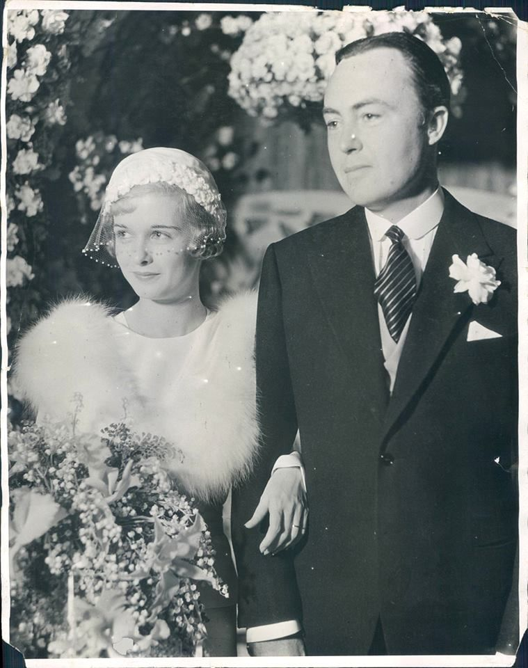 Joan Bennett's marries 2nd husband, screenwriter/film producer, Gene Markey--March 16, 1932.