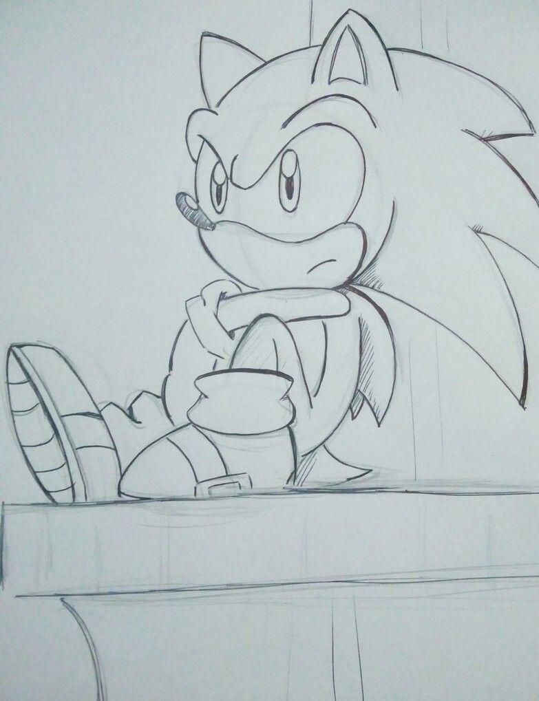 Sonic The Hedgehog Esboços De Desenhos Animados Desenhos