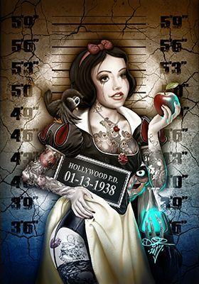 Pin de Judika Sandner en Twisted Cartoons   Princesas disney tatuadas,  Personajes de terror, Arte de princesa disney