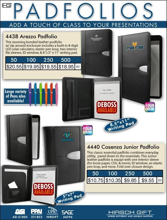 Padfolios from Hirsch Gift will dress up all your presentations. @hirschgift  #promotionalproducts