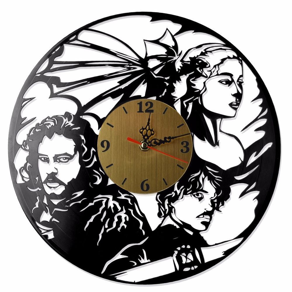 """NEW Vinyl Record Wall Clock """"Game of Thrones"""", cool modern"""