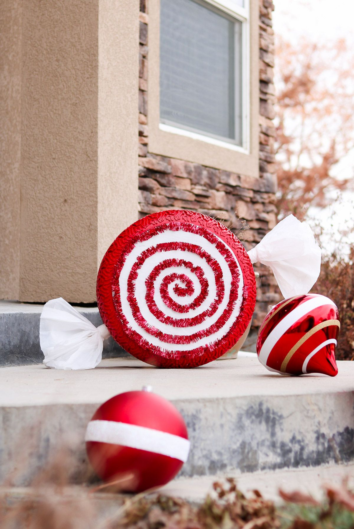 Christmas Tire Ornaments Giant for Outdoor Porch