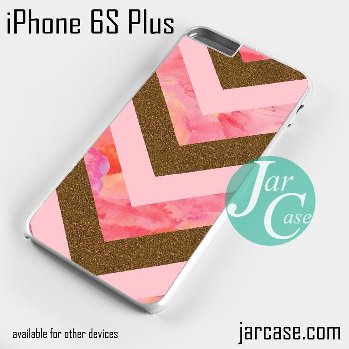 Awesome Pink Gold Glitter Chevron Phone case for iPhone 6S Plus and other iPhone devices