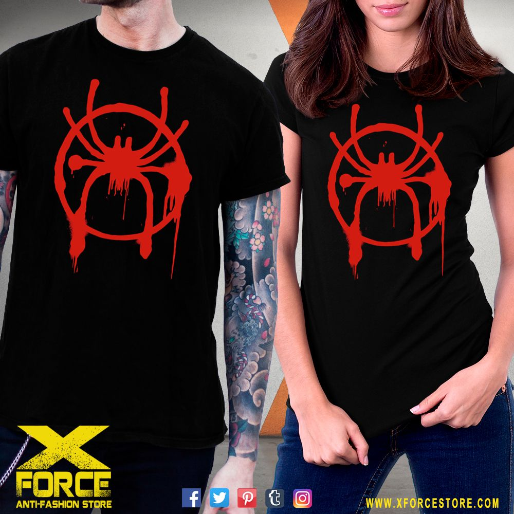 b95985362 Camiseta Homem Aranha Miles Morales Aranhaverso Logo Blusa