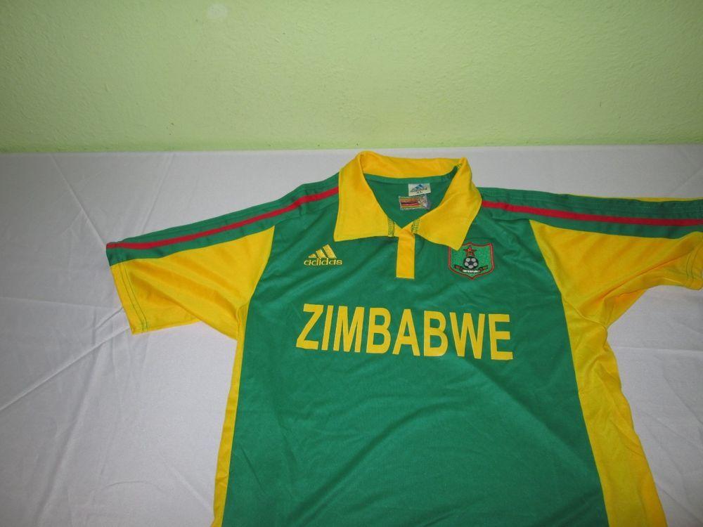 Zimbabwe Soccer Football Futbol Jersey Sz Xl M Adidas Climacool Maglie