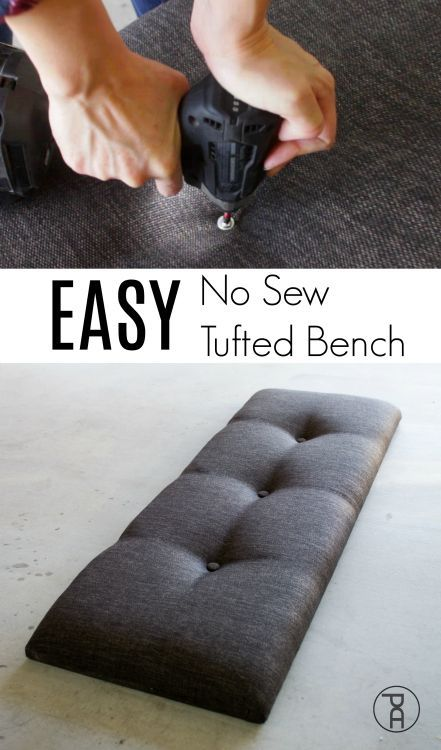 EASY No Sew Tufted Bench Hack | Video Tutorial
