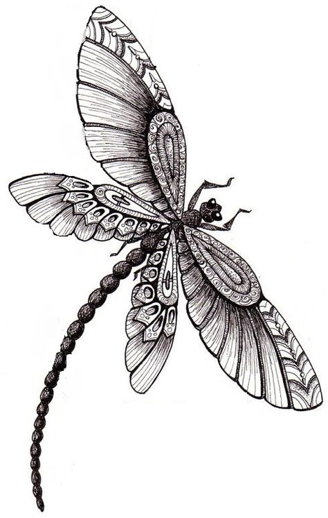 Tattoo butterfly colour dragon flies 60+ ideas