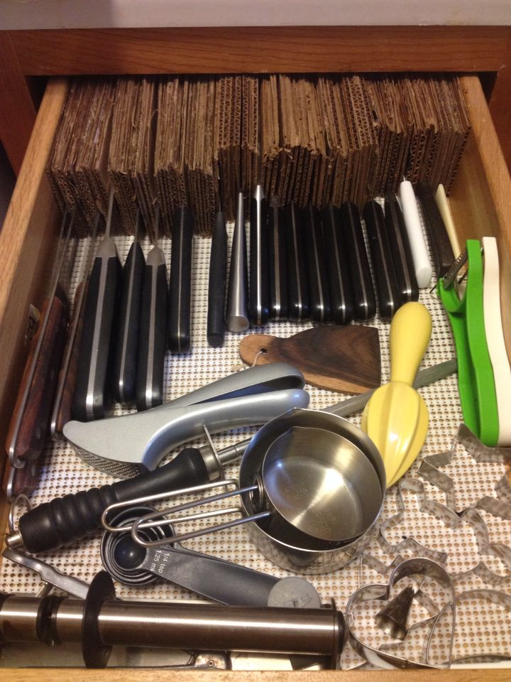 This Is My Free Diy Answer To The Cork Knife Drawer Organizer