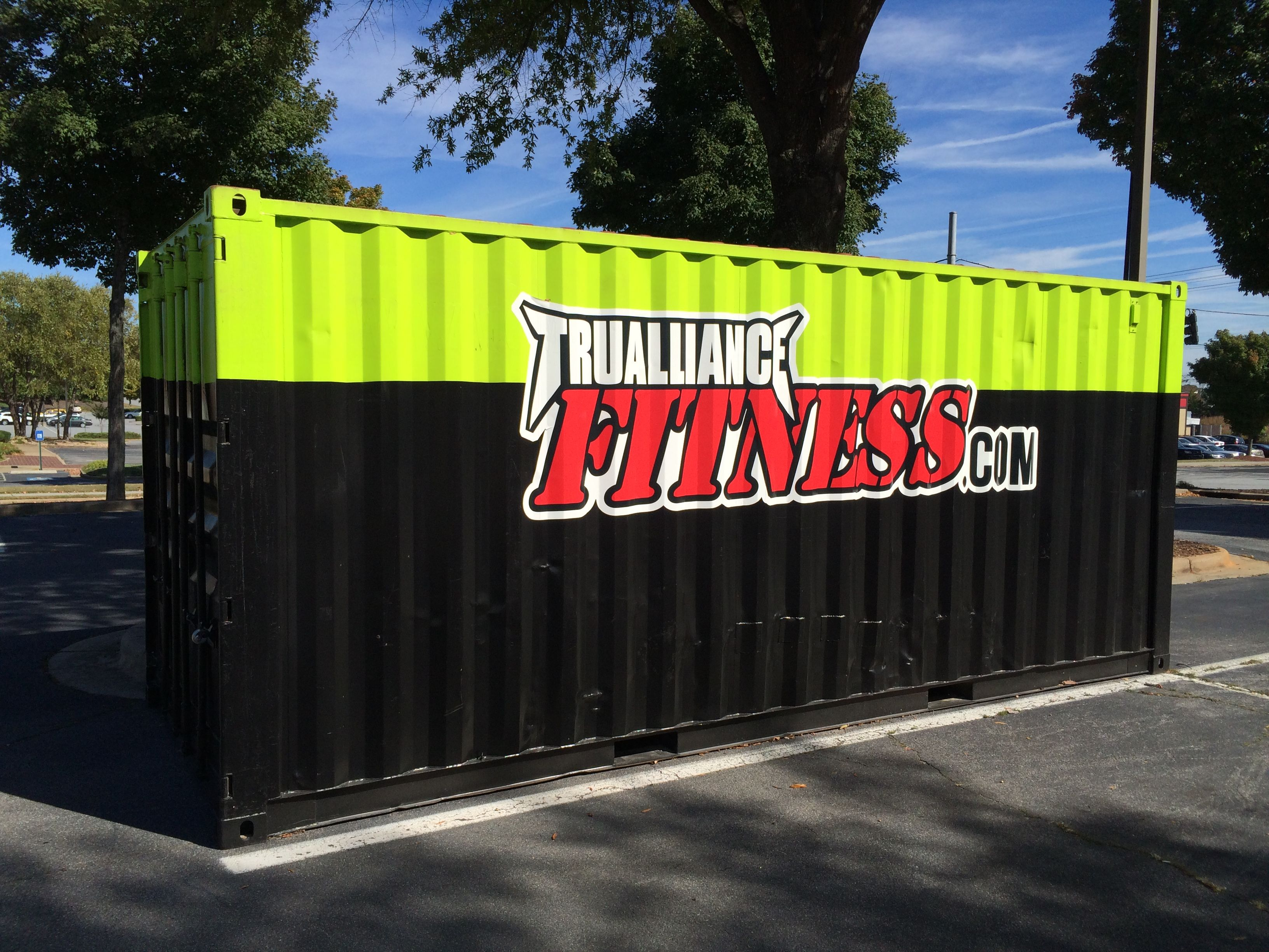 20Ft Container Promotional Wrap For Fitness Center Duluth, Ga Usa