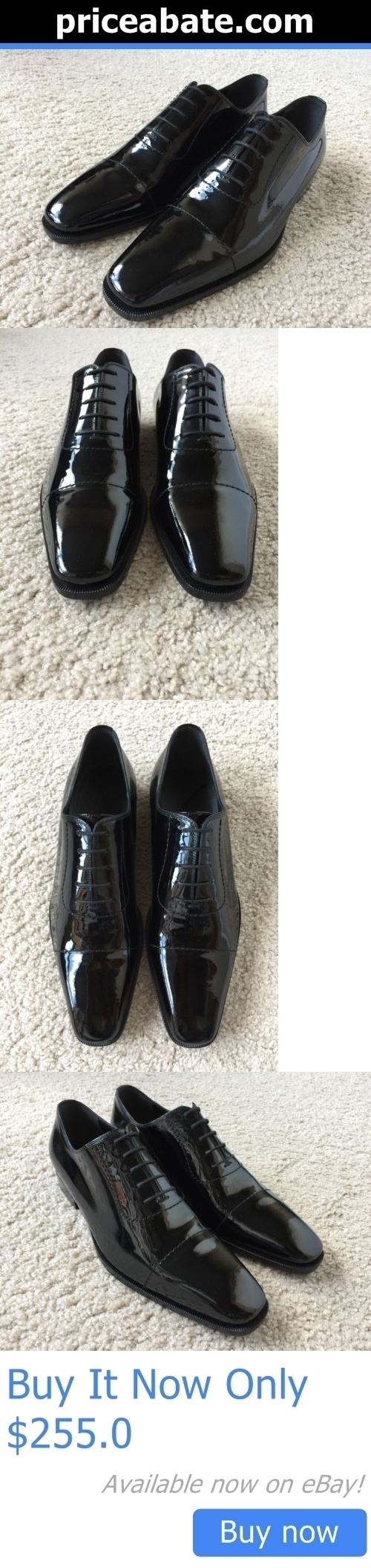 Men Shoes: Gucci Mens New Black Patent Leather Oxford Dress Shoes 9D BUY IT NOW ONLY: $255.0 #priceabateMenShoes OR #priceabate