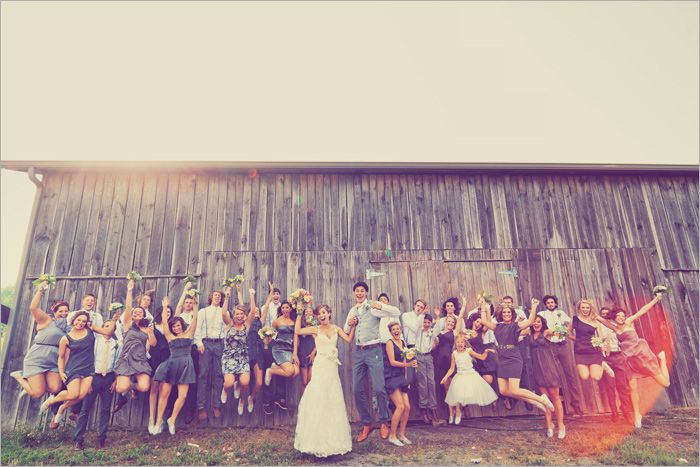 Wedding Party jumping photos...never gets old!