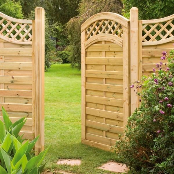 Planning And Building Instructions For A Wooden Garden Gate With