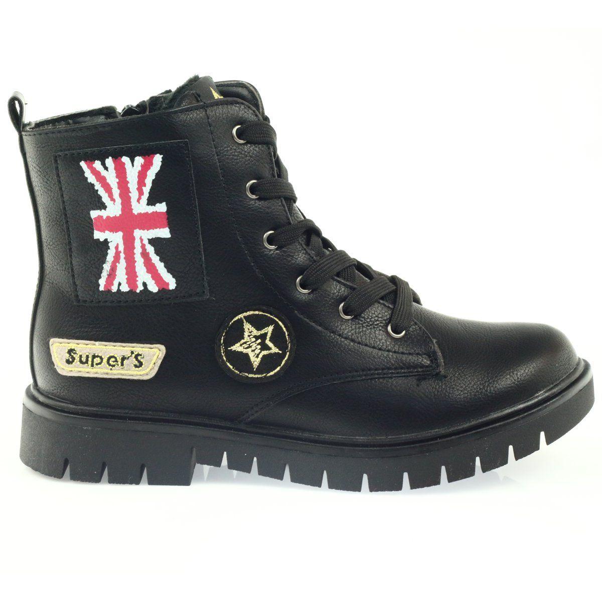 American Club American Super Workery Buty Zimowe Czarne Zolte Czerwone Hiking Boots Shoes Boots