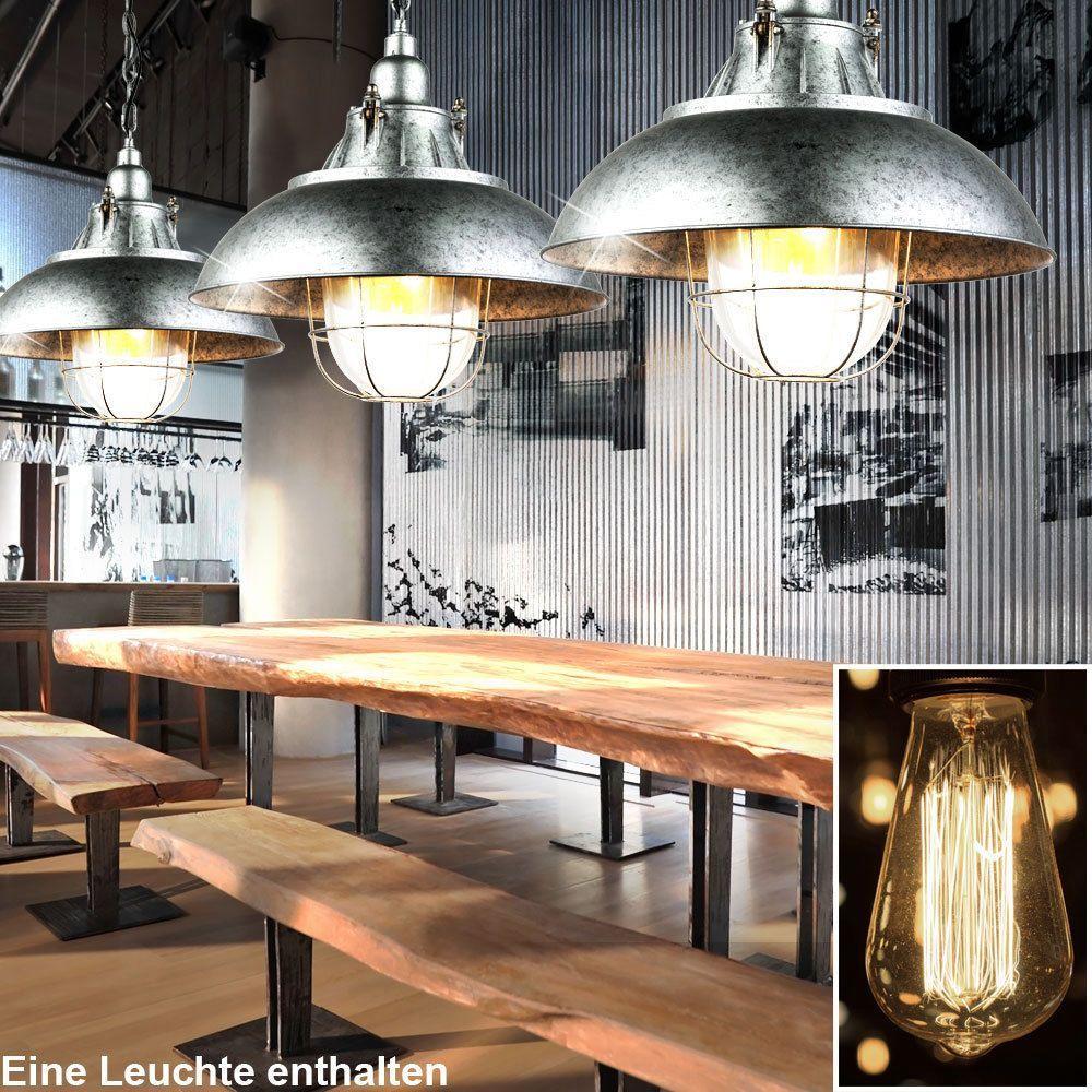 LED Decken Hänge Lampe Loft Industrie Design Retro Pendel Leuchte Metall Käfig
