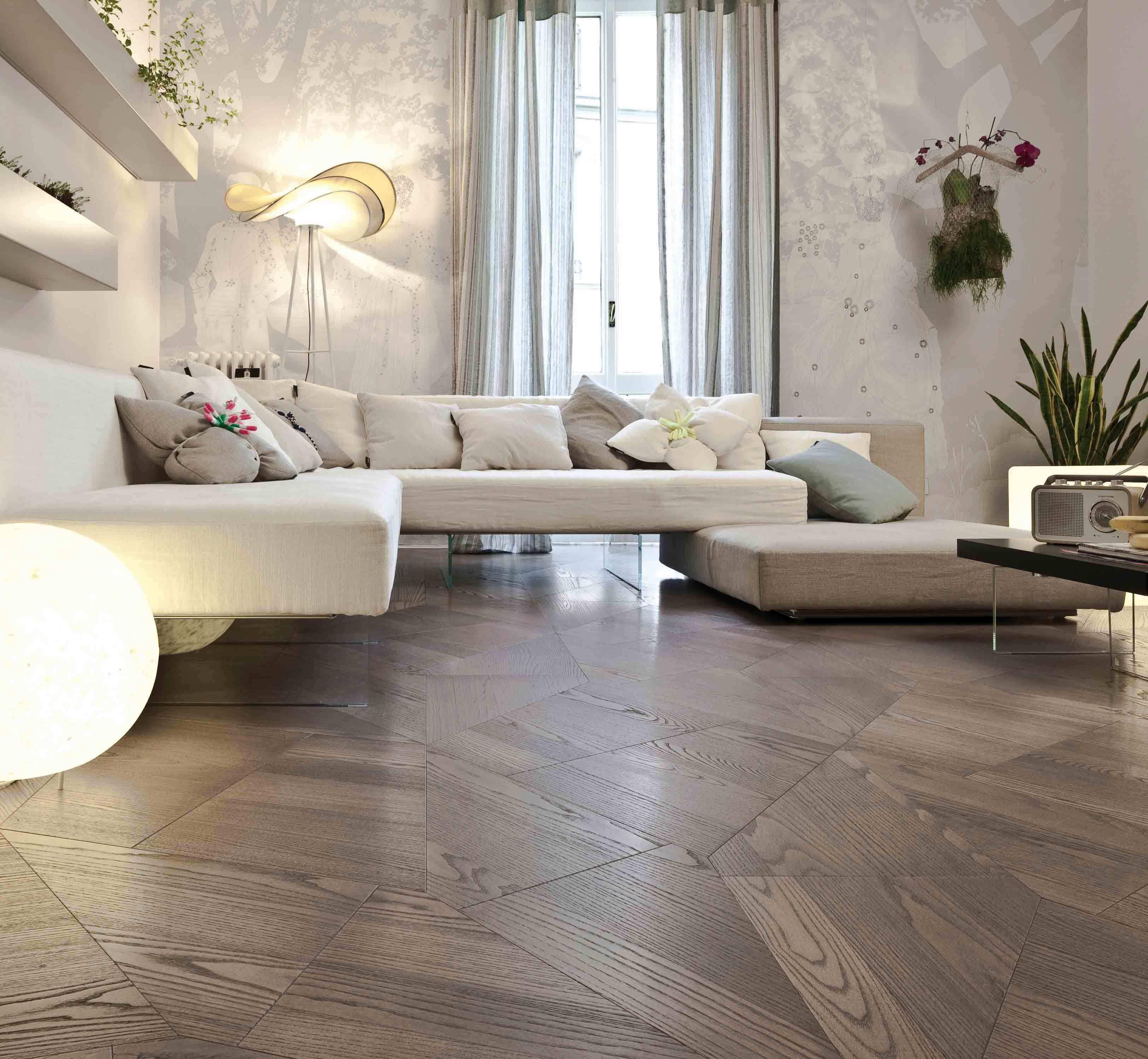 Living Room Salon Blanc Decoration Yuna Feng Shui Avec Images Pose Parquet Mobilier De Salon Mobilier Design