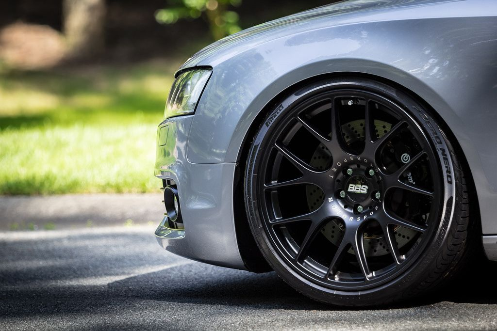 Audi A5 On Bbs Ch R Satin Black 20x10 5 Et25 W 3mm Rear