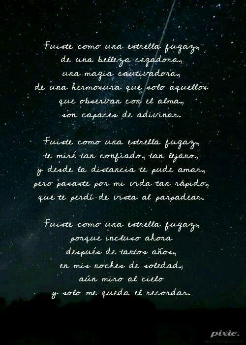 Mi Estrella Fugaz Mis Letras Frases Bonitas Estrellas Fugaces