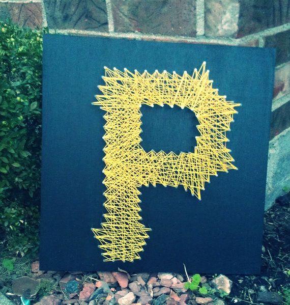 pittsburgh pirates string art 16inx16in