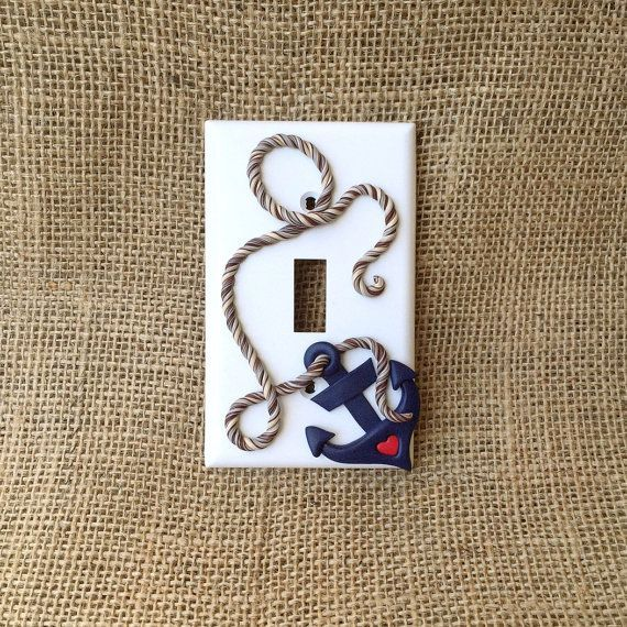 anchor switch plate cover anchor by anchorincreativity on etsy