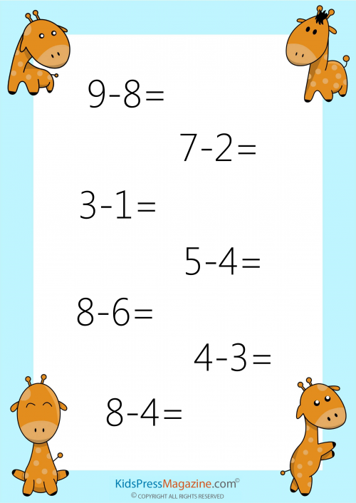 Easy Subtraction without Regrouping - #1 | Worksheets, Maths and ...