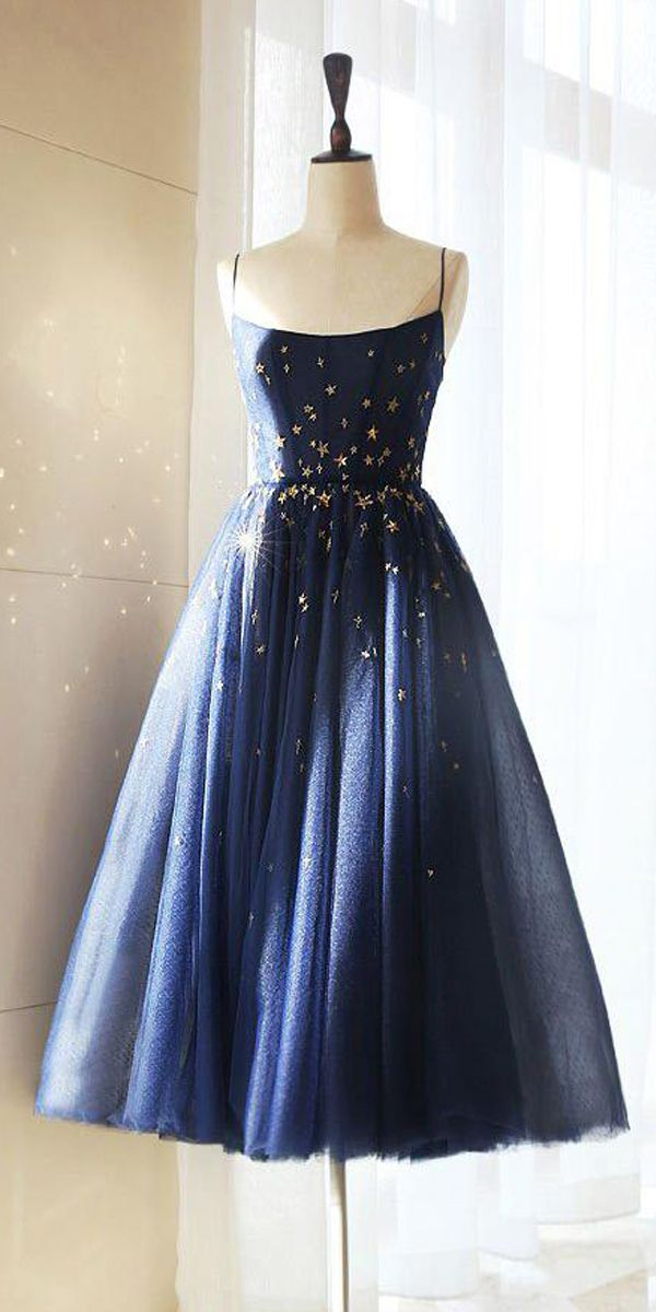 Sparkly Homecoming Dresses Stars A Line Short Prom Dress PD384