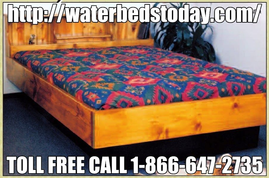 Pin By Waterbeds Today On Bedroom Furniture Waterbed Frame Water Bed Mattress