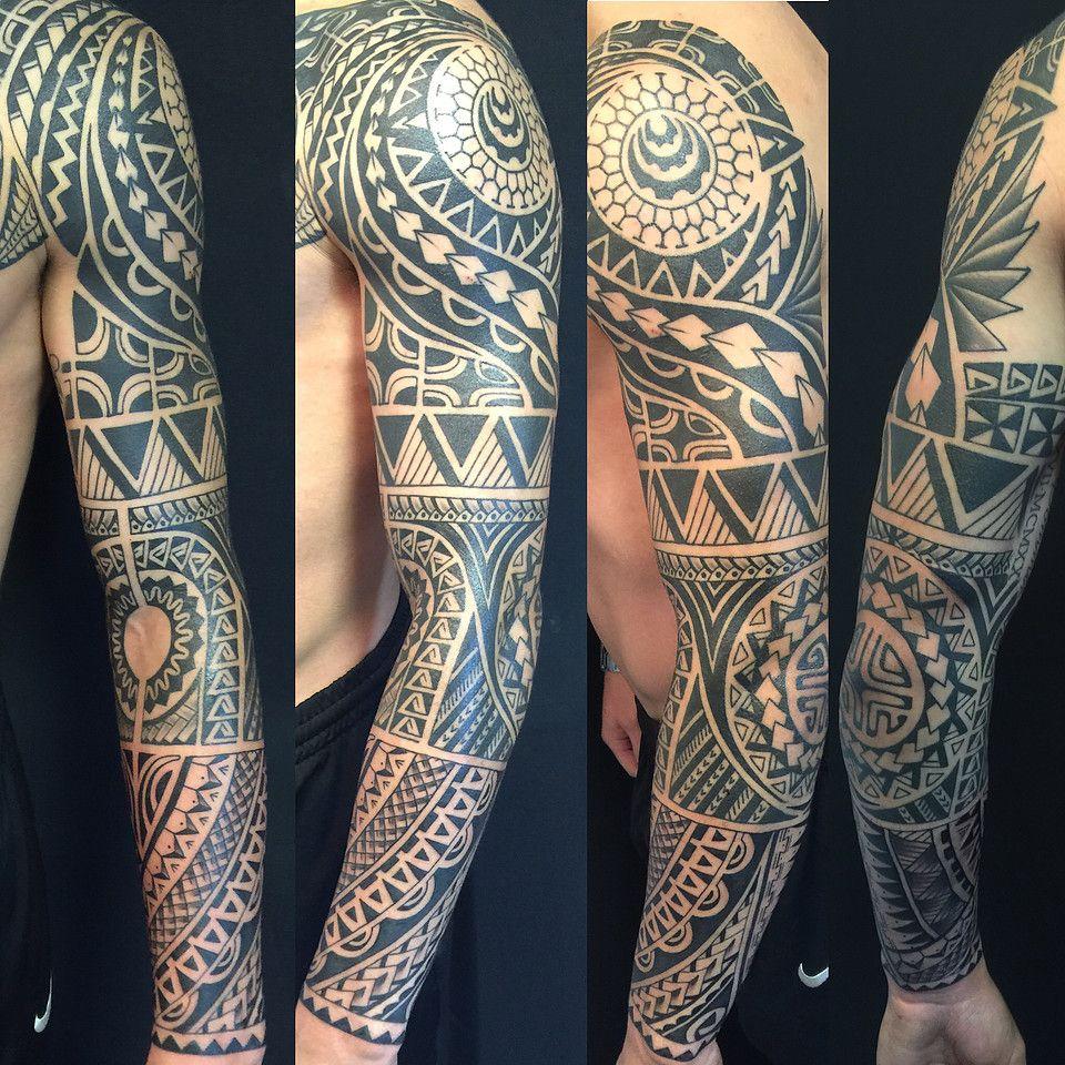 oksana weber black and grey polynesian tattoo sleeve tattoos by oksana weber pinterest. Black Bedroom Furniture Sets. Home Design Ideas