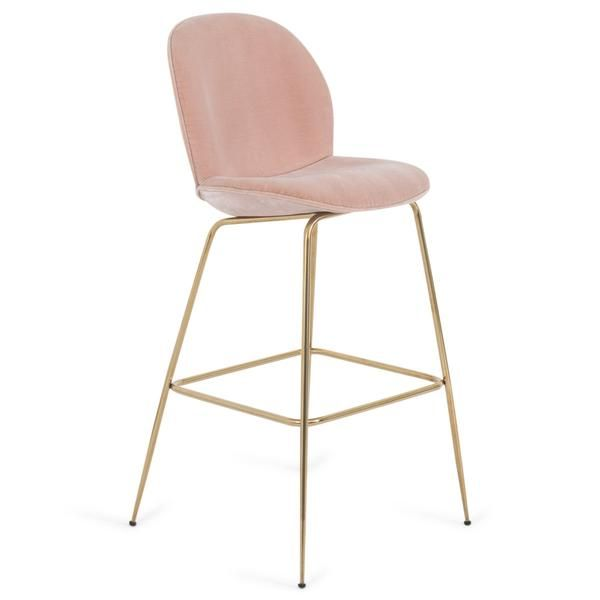Amalfi Bar Or Counter Stool In Velvet