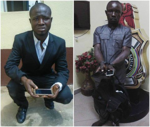 [photo] Two corporate thieves arrested in Lagos