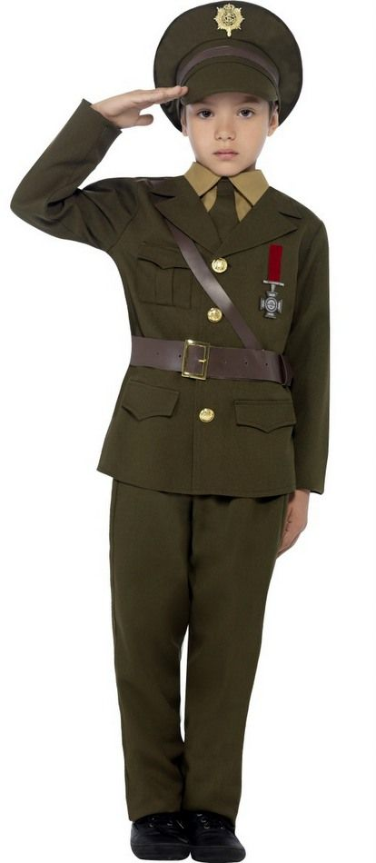 childs wwii army officer costume 1940s costumes 40s costumes - Boys Army Halloween Costumes