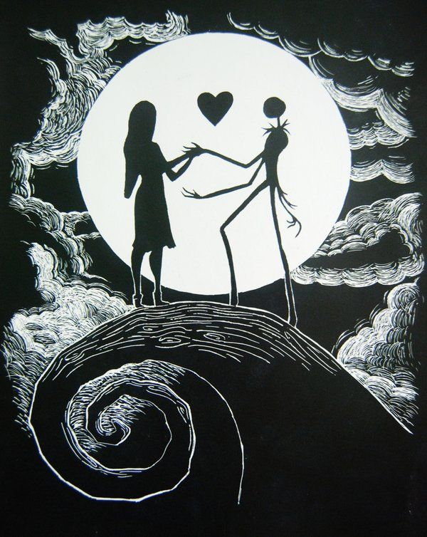Tim Burton Nightmare Before Christmas Jack And Sally.Nightmare Before Christmas Tim Burton Nightmare Before