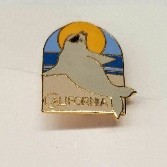 California Seal Beach Sun Sunglasses Lapel Hat Pin Pinback