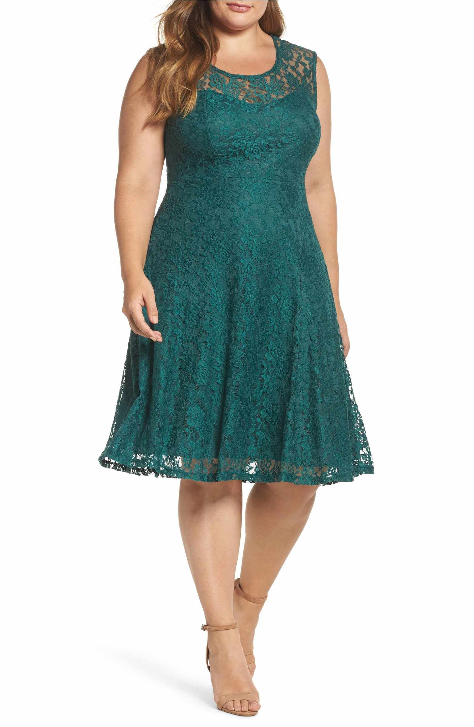 Main Image - Soprano Lace Skater Dress | Date Night | Pinterest ...