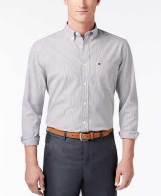 TOMMY HILFIGER Tommy Hilfiger Men'S Big &Amp; Tall Fitzgerald Striped Shirt. #tommyhilfiger #cloth #down shirts