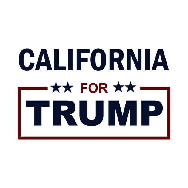 Awesome 'California+for+Trump' design on TeePublic!