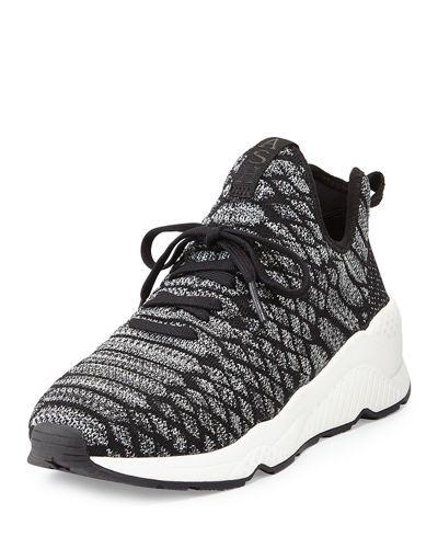 Ash Magma Python-Print Fabric Sneaker