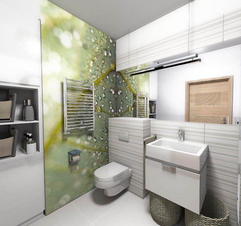 Moderne Wandgestaltung Im Badezimmer - Fototapete Mit Tropfen