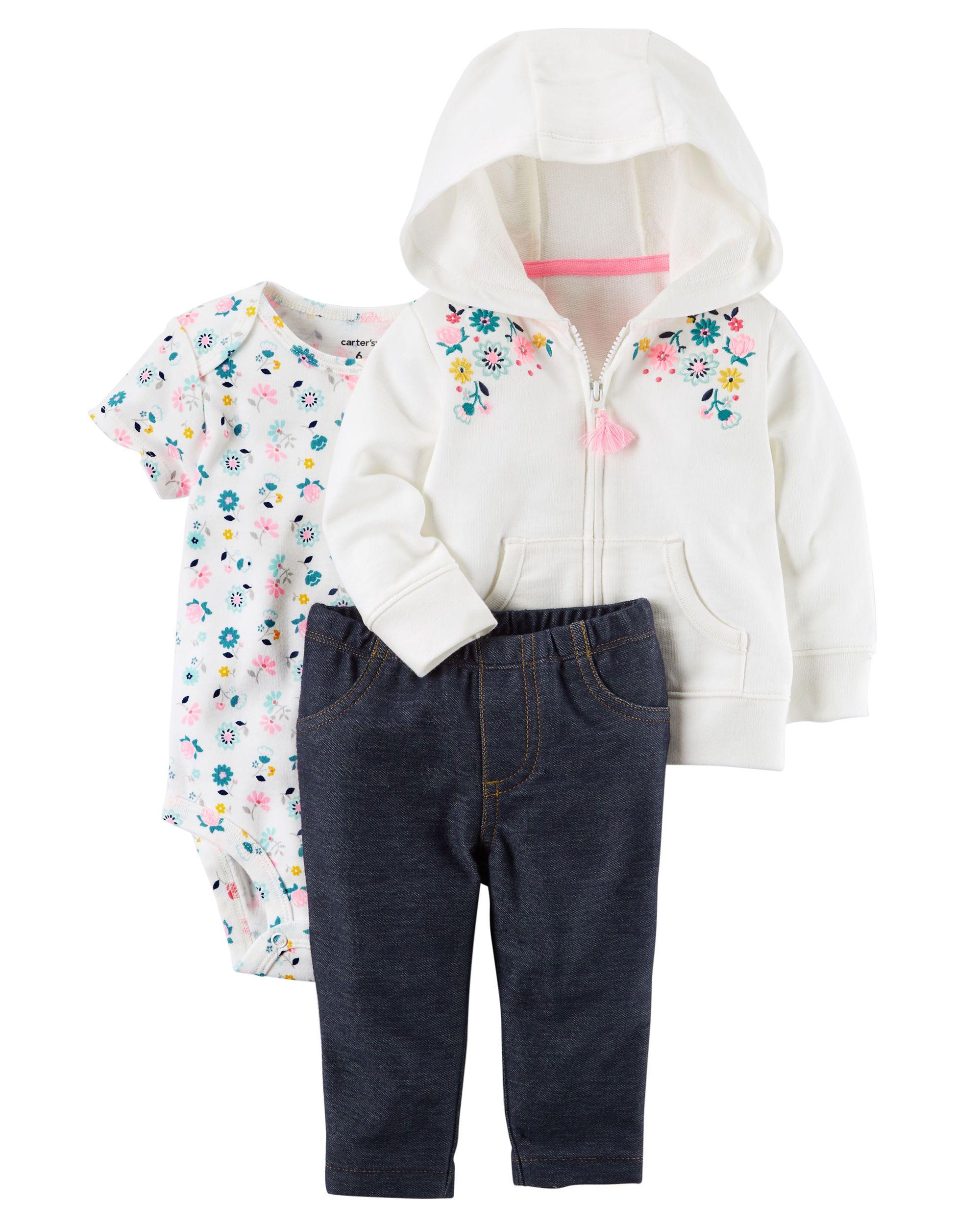 Pilot Girl Cotton Crewneck Boys-Girls Infant Sleepwear Pajama 2 Pcs Set