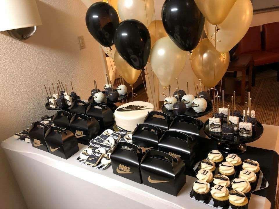 Nike Birthday Party Ideas Photo 1 Of 6 Mens Birthday Party 18th Birthday Party Birthday Party For Teens