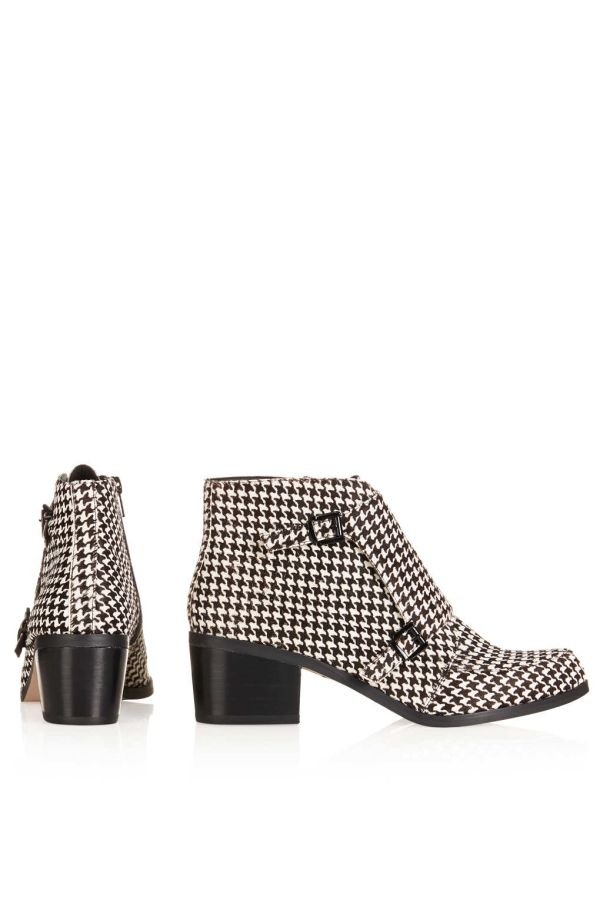 ACUTE Dogtooth Monk Boot Boots Shoes Topshop | Skor
