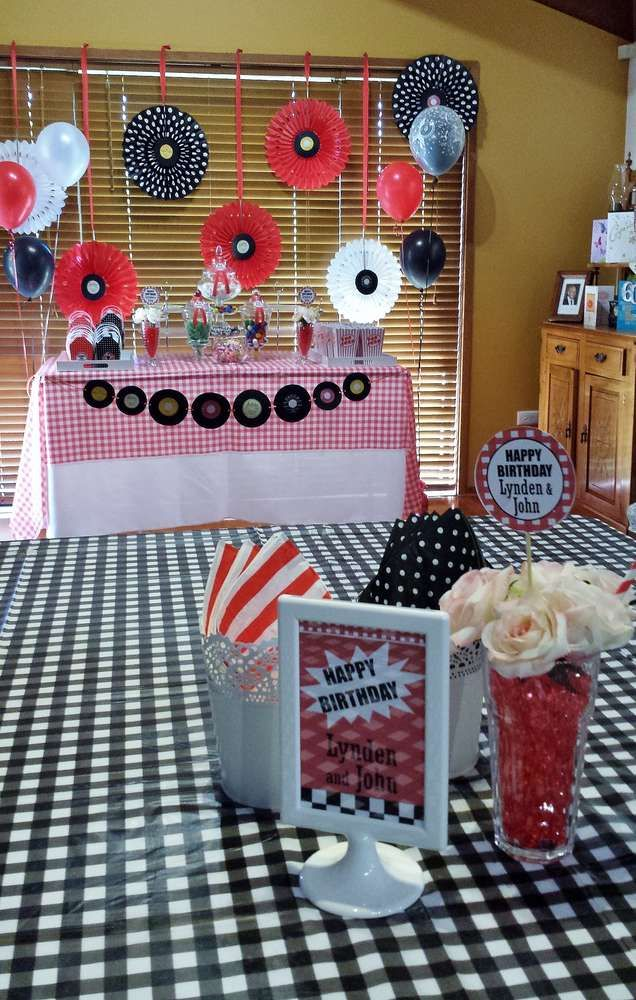 1950 S Rock And Roll Birthday Party Ideas Grease Party Pinterest