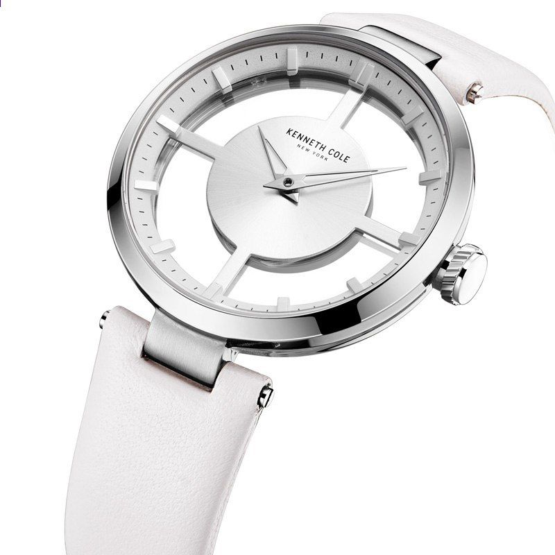 9e86fd3f97c KENNETH COLE WOMEN S WATCH KC2609 FASHION SIMPLE ELEGANT BAND IN PELLE  BIANCA Trasparenza