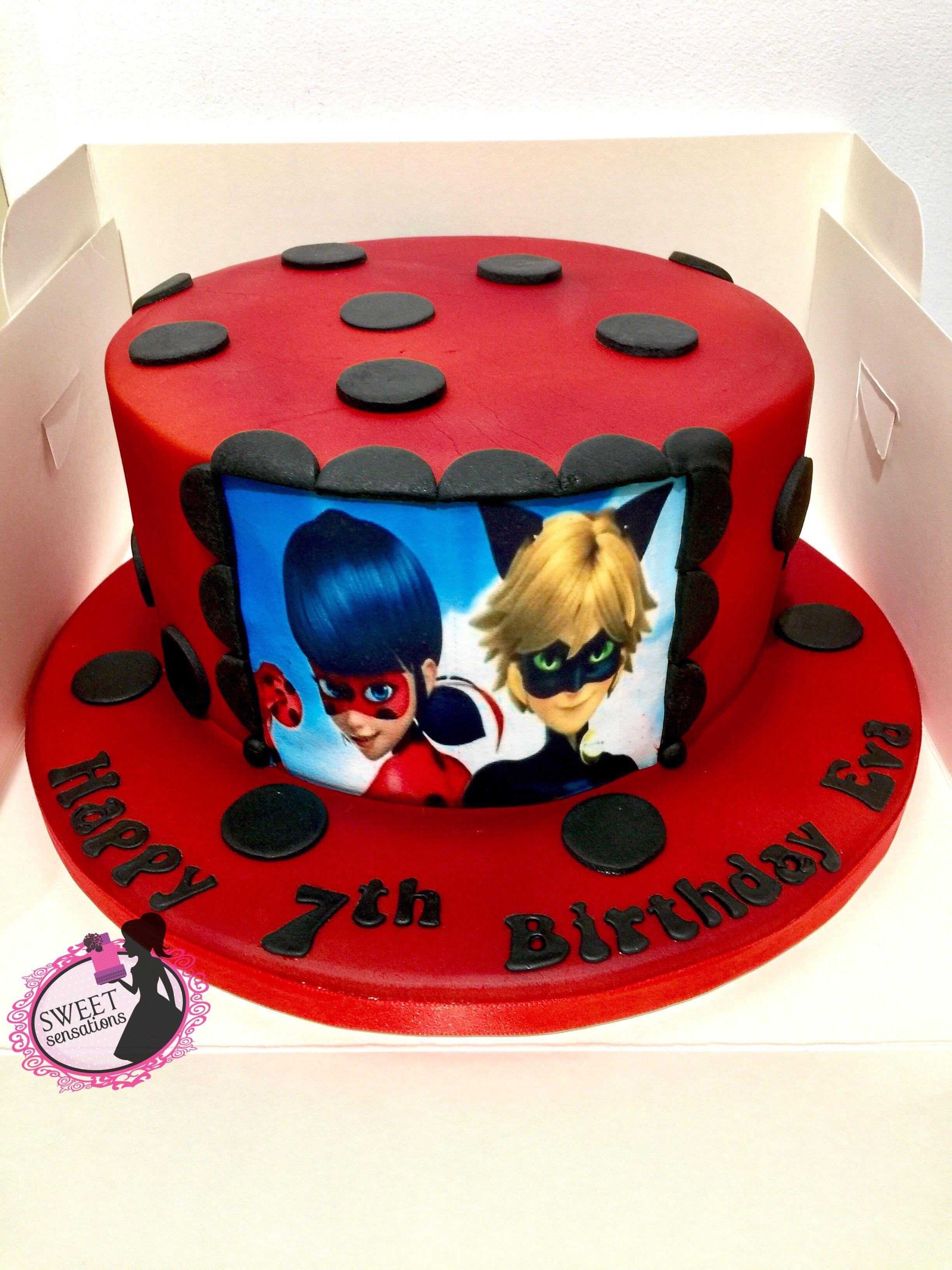 Ladybug Cat Noir Cake Cool Birthday Cakes Ladybug Cakes Ladybug And Cat Noir Cake