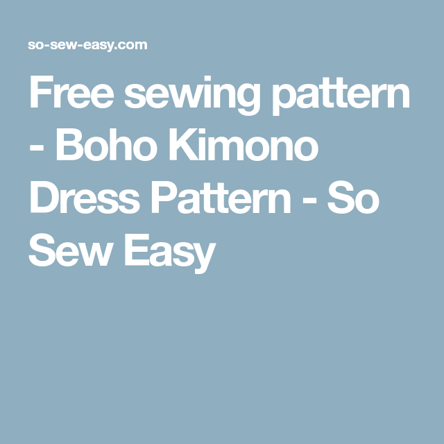 Free sewing patterns So Sew Easy
