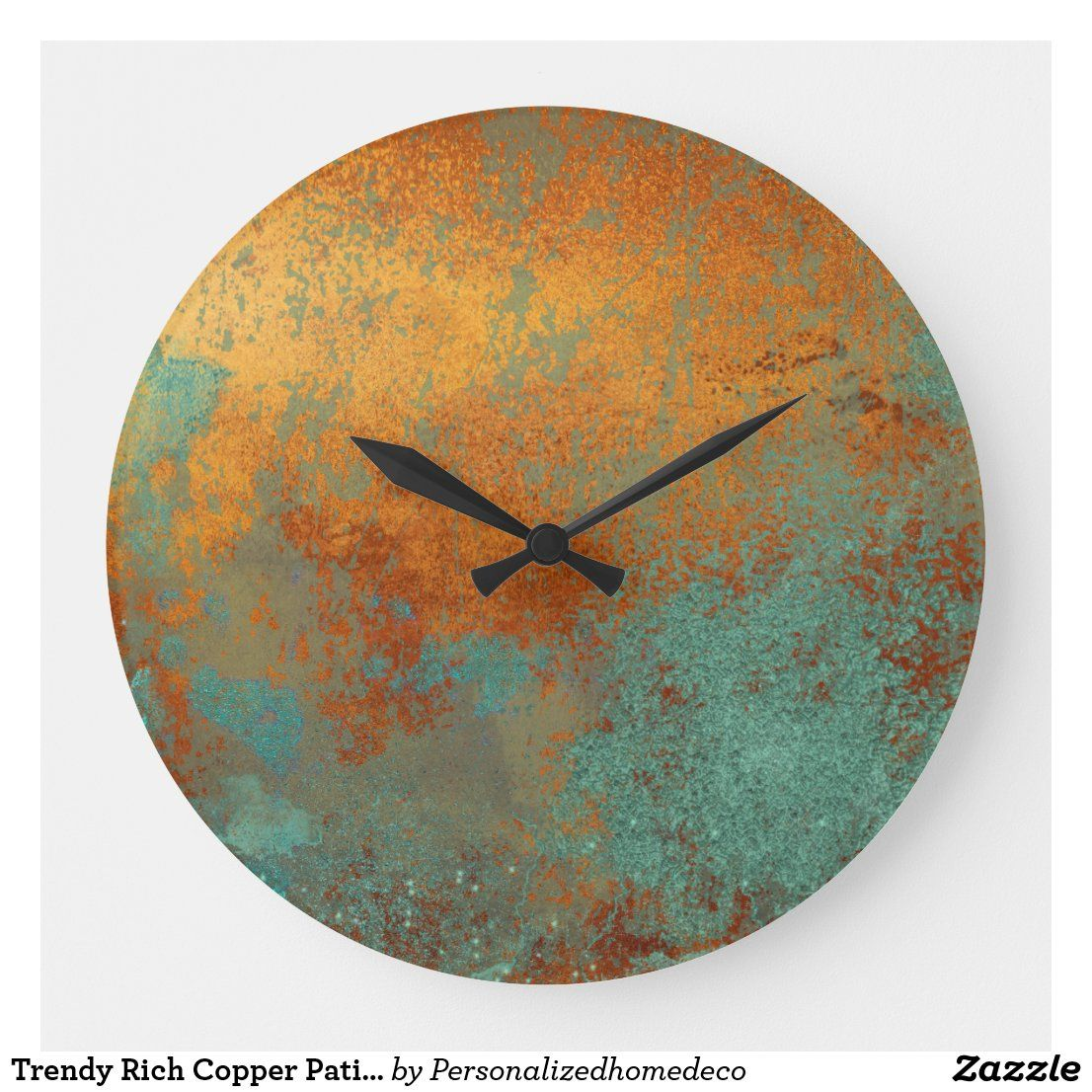 Amazon Com Large Wall Clock 14 Inch Rose Gold X2f Copper And Black Wall Clock With 3d Number Details Quality Qu Black Wall Clock Wall Clock Gold Wall Clock