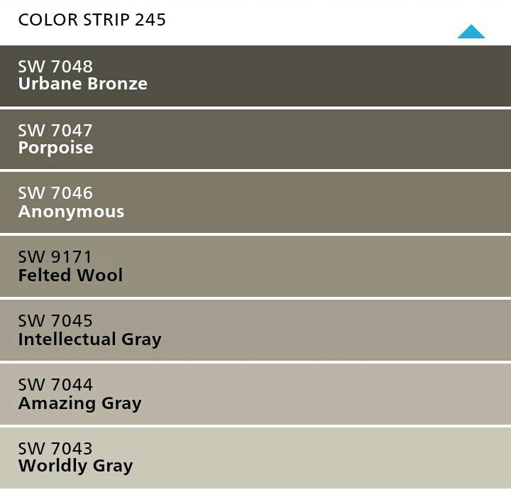 Amazing Gray S Color Strip 245 Sherwin Williams Paint Colors For