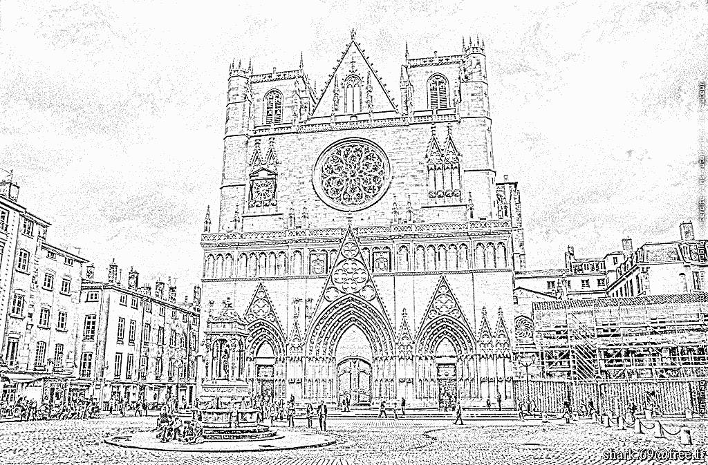 Imprimer coloriage cathedrale saint jean floute - Coloriage lyon ...